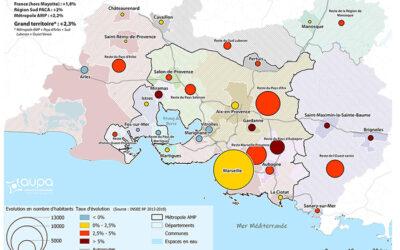 Cartographie de la démographie récente