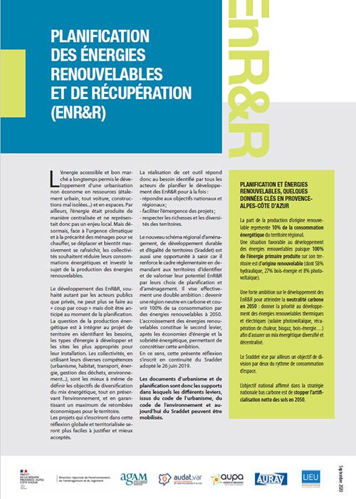 GUIDE POUR LA PLANIFICATION DES ÉNERGIES RENOUVELABLES ET DE RÉCUPÉRATION