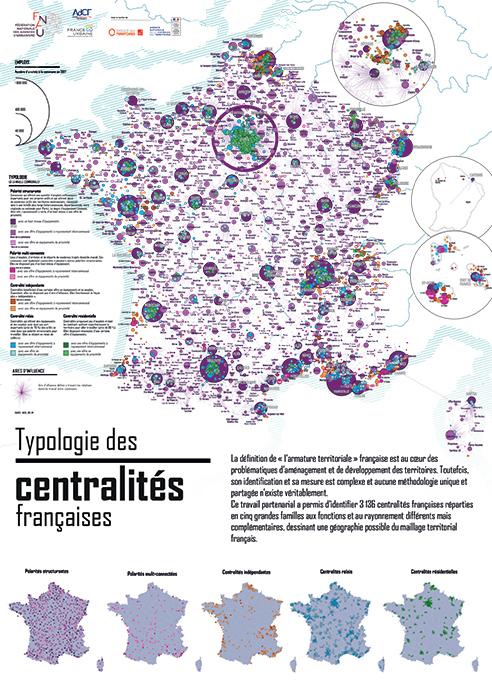 Poster: typologie des centralités française