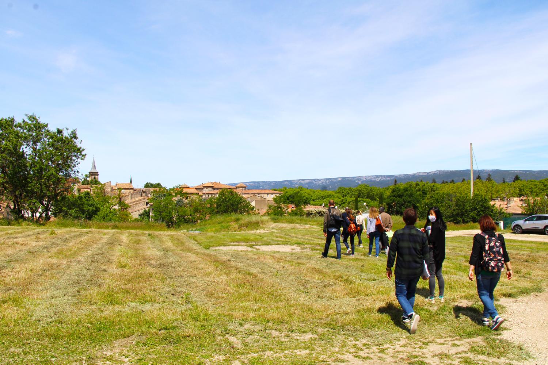 petite ville de demain - visite à La Roque d'Anthéron