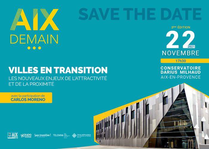 Séminaire Aix Demain: Villes en transition – 22 nov. 2021