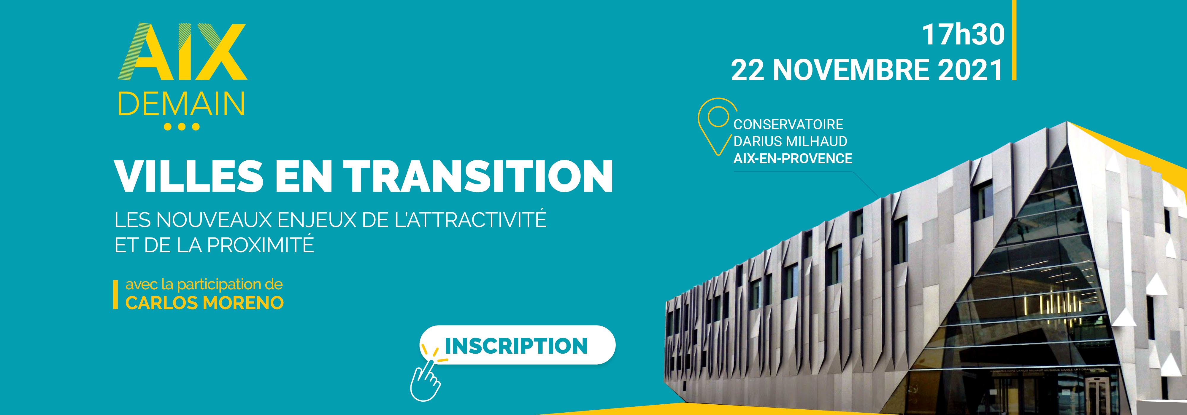 "Séminaire ""Aix Demain"", le 22 novembre 2021"